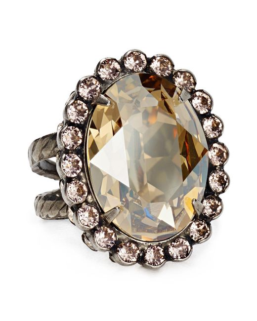 Sorrelli | Metallic Oval Cut Ring | Lyst