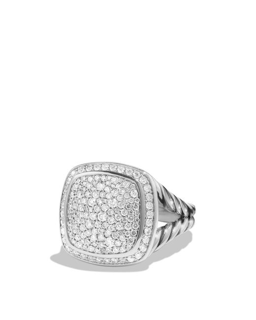 David Yurman | White Albion Ring With Diamonds | Lyst