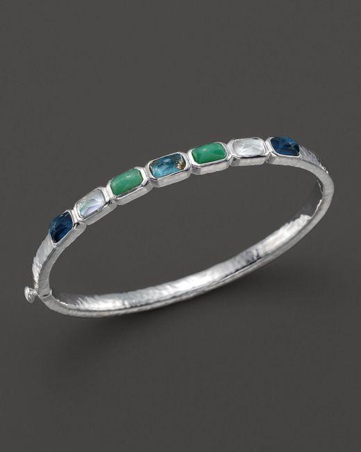 Ippolita | Metallic Rock Candy Sterling Silver Wonderland Small Horizontal 7-stone Bangle | Lyst