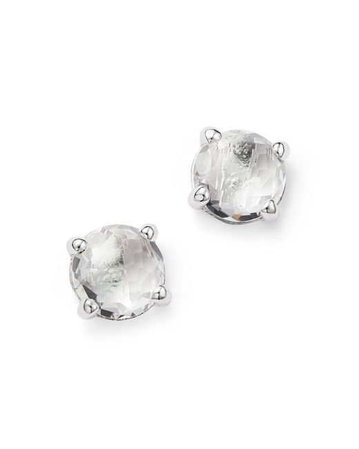 Ippolita | Metallic Rock Candy® Sterling Silver Mini Stud Earrings With Clear Quartz | Lyst