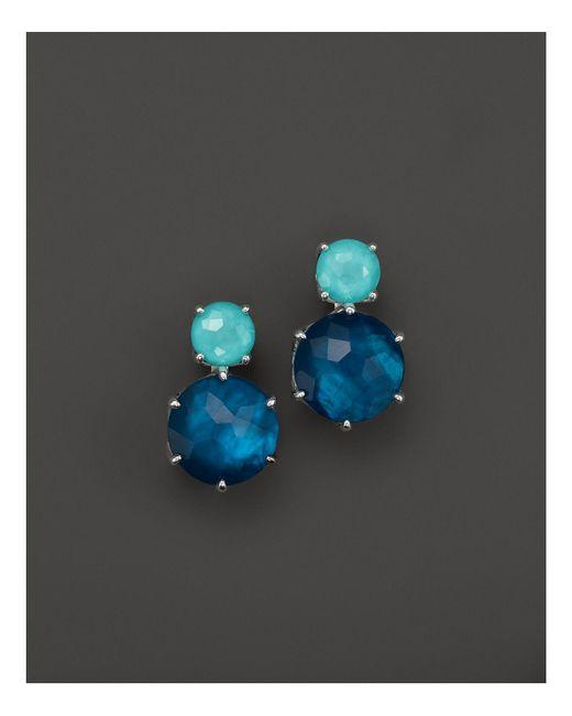 Ippolita | Blue Wonderland 2-stone Post Earrings In Mystic | Lyst