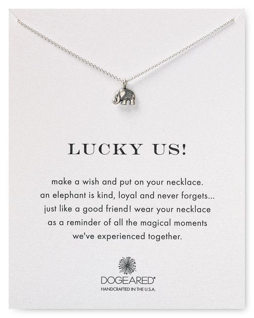 """Dogeared   Metallic Lucky Us Necklace, 18""""   Lyst"""