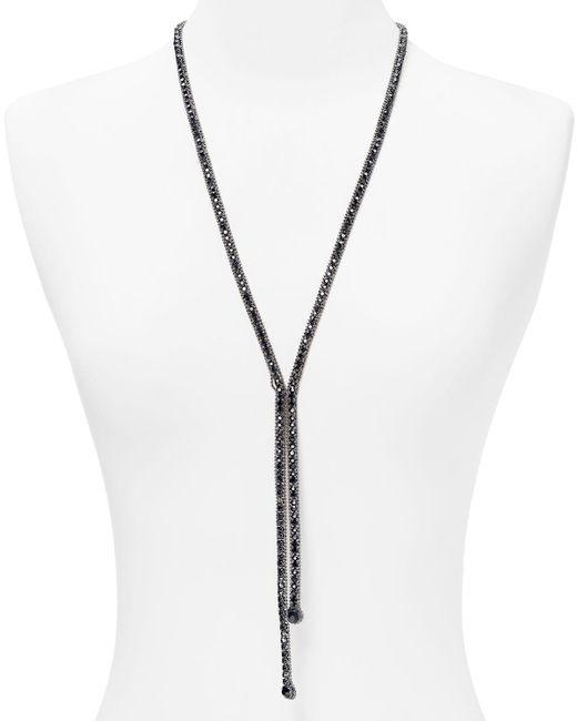ABS By Allen Schwartz   Black Lariat Gemstone Necklace   Lyst