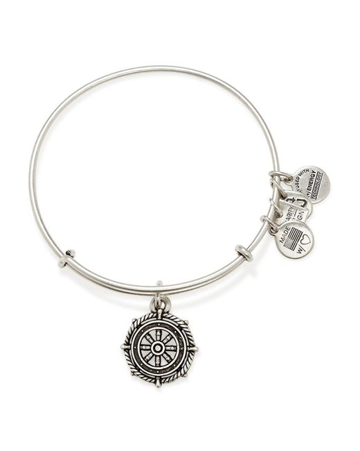 ALEX AND ANI | Metallic Take The Wheel Expandable Wire Bracelet | Lyst