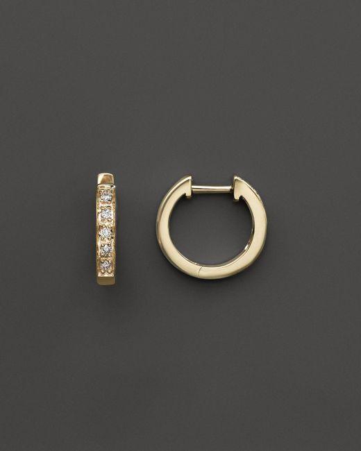 KC Designs | Metallic Diamond Mini Hoops In 14k Yellow Gold - 100% Exclusive | Lyst