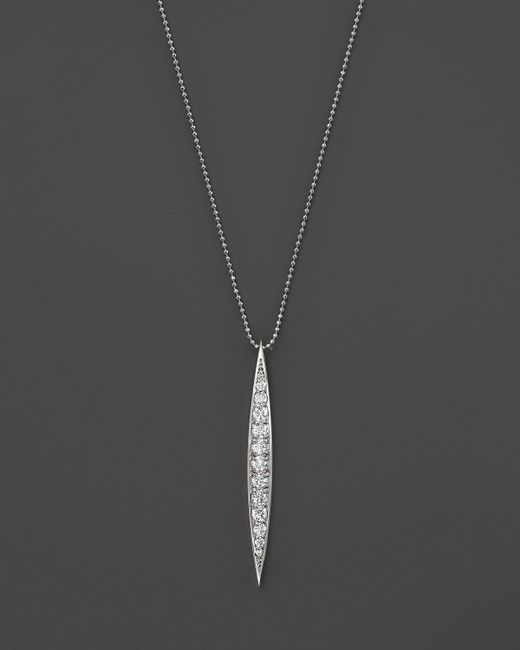 KC Designs | Metallic Diamond Stick Pendant Necklace In 14k White Gold | Lyst