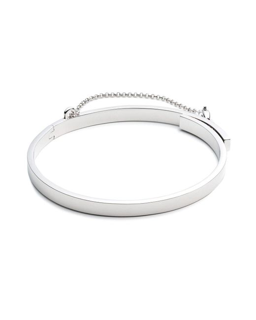 Eddie Borgo | Metallic Extra Thin Safety Chain Bangle | Lyst