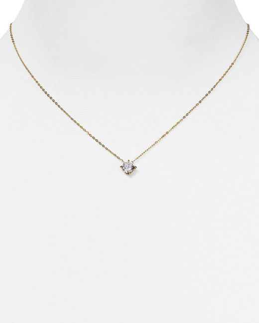 "Nadri | Metallic Float Pendant Necklace, 16"" | Lyst"