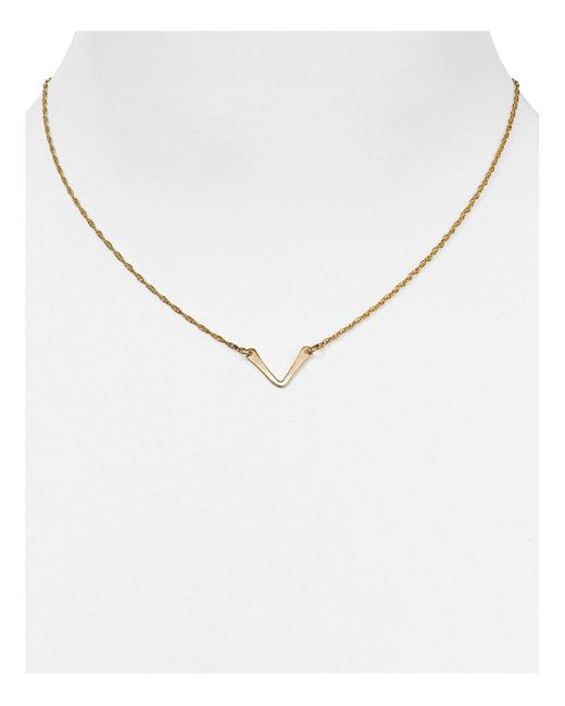 Phyllis + Rosie | Yellow Phyllis + Rosie V Pendant Necklace, 16"