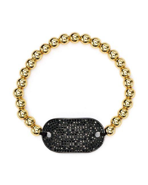 Aqua   Metallic Black Stretch Bracelet   Lyst