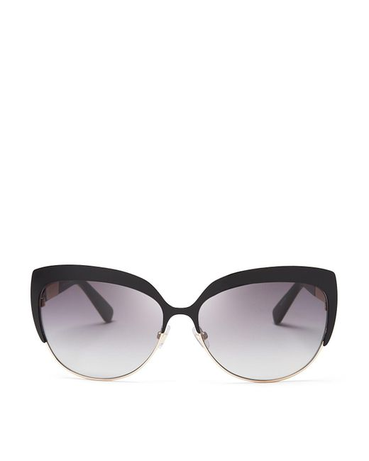kate spade new york | Black Raelyn Cat Eye Sunglasses, 59mm | Lyst