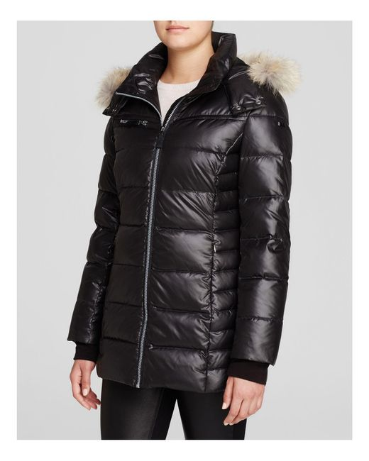 Marc New York | Black Paris Fur Trim Puffer Coat | Lyst