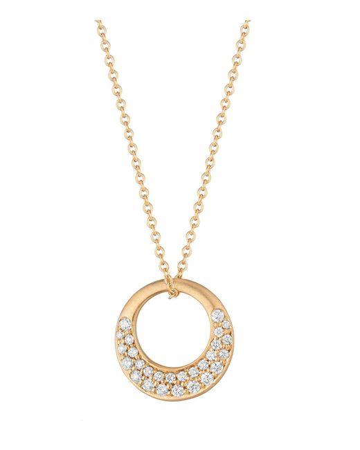 "Carelle | Metallic Diamond Pave Interlinks Pendant Necklace In Rose Gold, 16"" | Lyst"