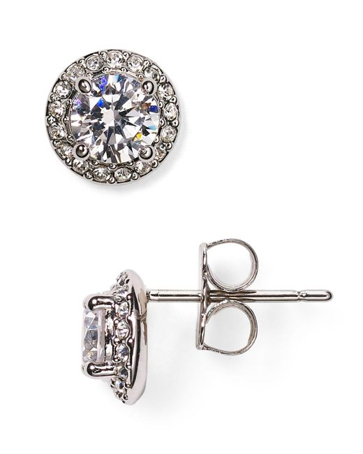 Nadri | Metallic Cubic Zirconia Stud Earrings | Lyst