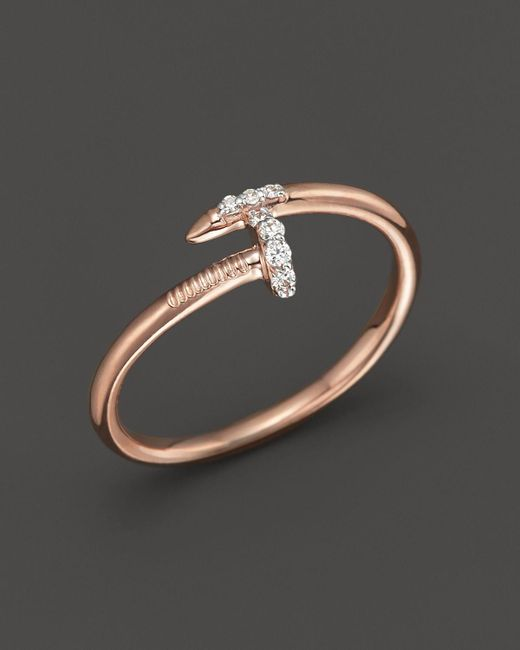 KC Designs | Pink Diamond Nail Ring In 14k Rose Gold, .06 Ct. T.w. | Lyst