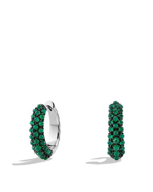 David Yurman | Osetra Hoop Earrings With Green Onyx | Lyst
