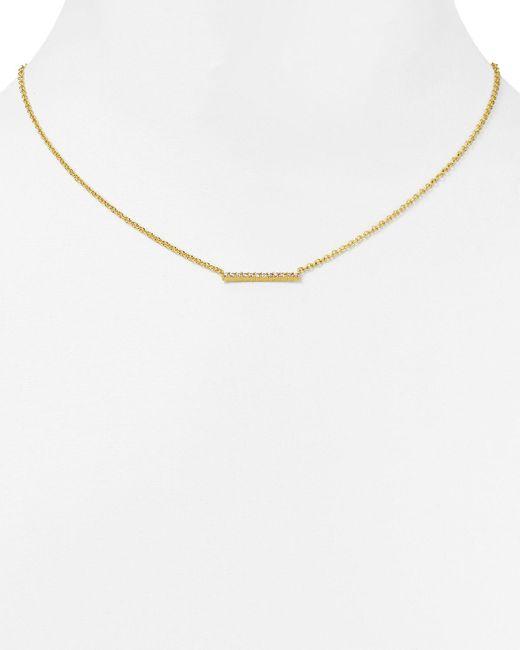 "Gorjana   Metallic Knox Pave Necklace, 18""   Lyst"