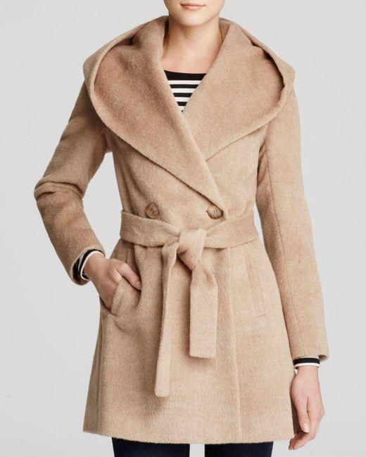 Trina Turk   Natural Grace Hooded Alpaca Coat   Lyst