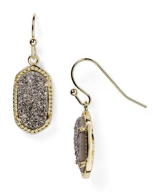 Kendra Scott | Metallic Lee Agate Drop Earrings | Lyst