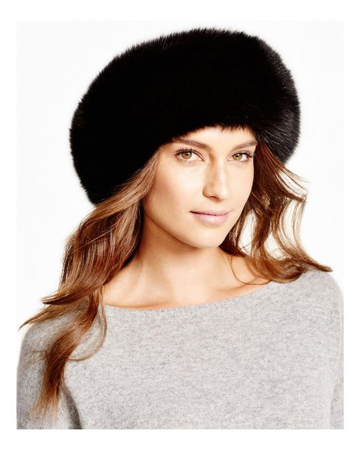 Maximilian | Black Maximilian Fox Fur Headband | Lyst