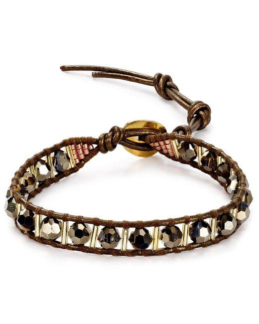 Chan Luu | Metallic Beaded Leather Bracelet | Lyst