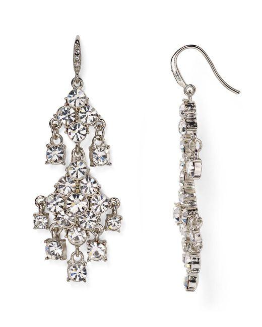 Carolee | Metallic Pave Chandelier Earrings | Lyst