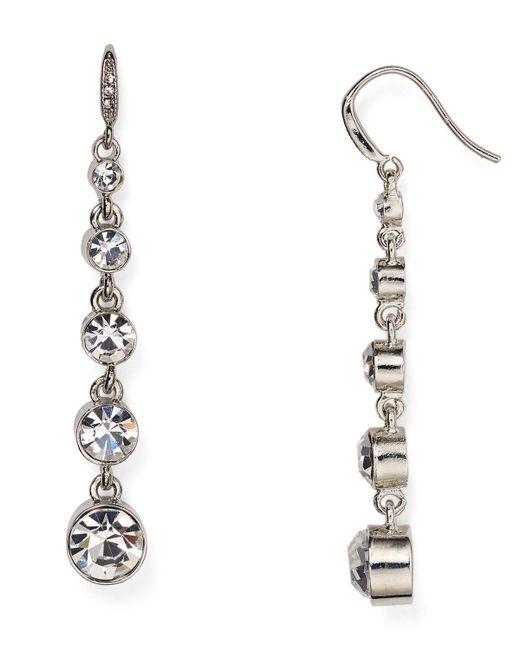 Carolee | Metallic Linear Drop Earrings | Lyst