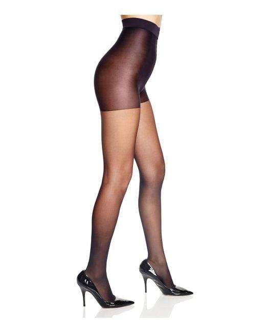Calvin Klein | Black Matte Sheer Control Top Tights | Lyst