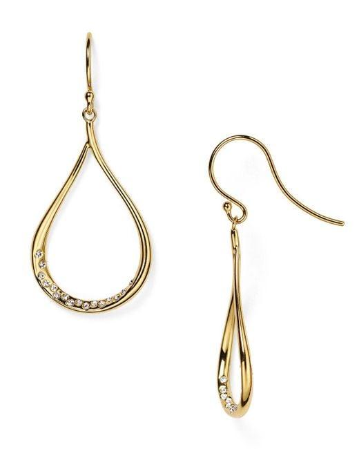 Nadri | Metallic Crystal-studded Drop Earrings | Lyst