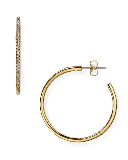 Nadri | Metallic Pavé Hoop Earrings | Lyst