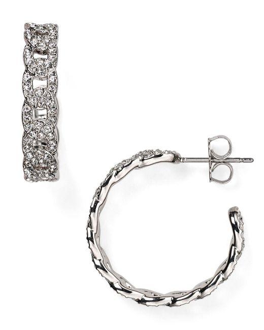 Nadri | Metallic Crystal-studded Hoop Earrings | Lyst