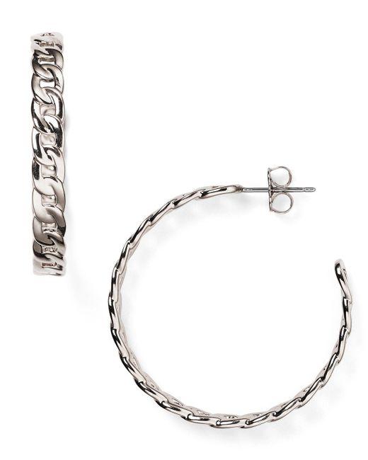 Nadri   Metallic Chain Hoop Earrings   Lyst