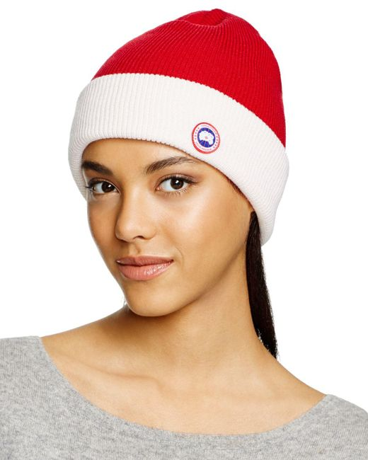 Canada Goose | Red Merino Wool Watch Cap | Lyst