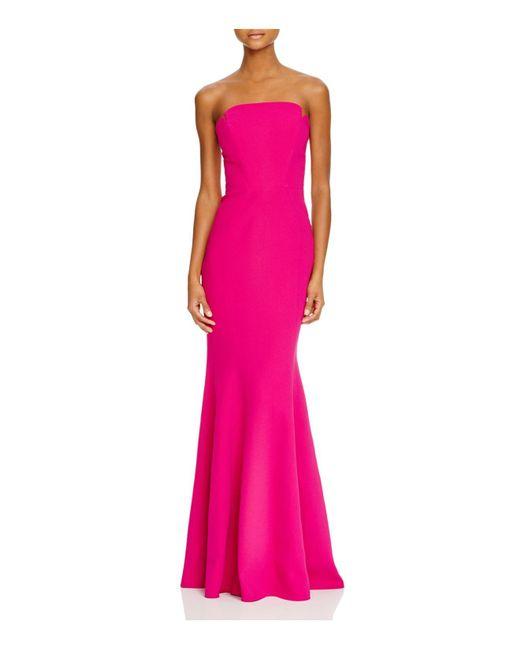 JILL Jill Stuart | Pink Strapless Crepe Mermaid Gown | Lyst