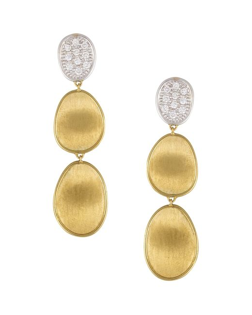 Marco Bicego | Multicolor Diamond Lunaria Three Drop Small Earrings In 18k Gold | Lyst
