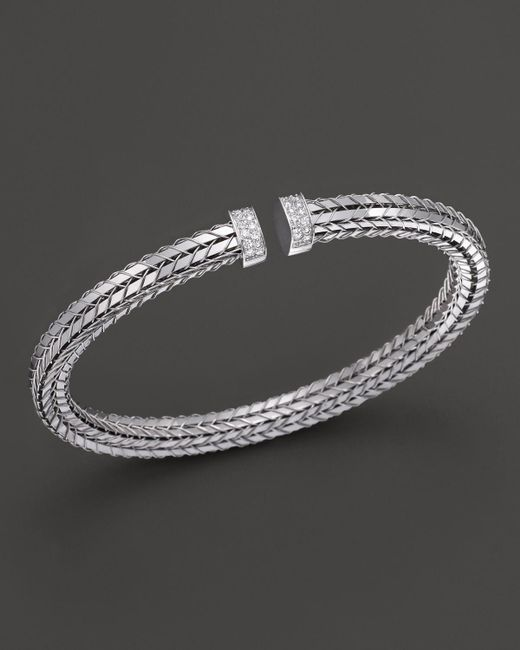 Roberto Coin   Metallic 18k White Gold Diamond Bracelet   Lyst