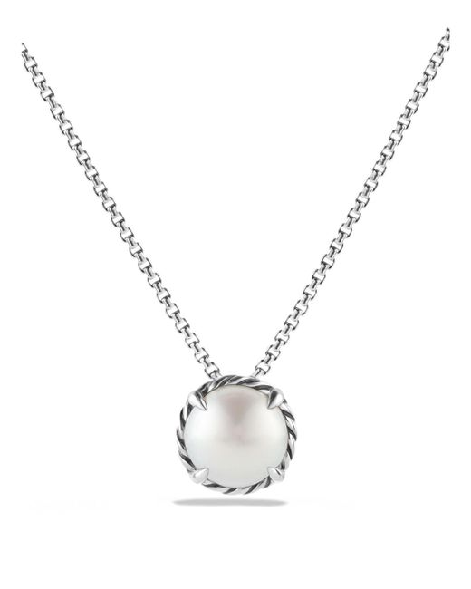 David Yurman | White Châtelaine Pendant Necklace With Pearl | Lyst