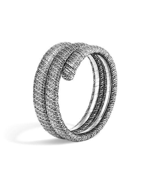 John Hardy   Metallic Classic Chain Sterling Silver Double Coil Bracelet   Lyst