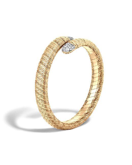 John Hardy | Metallic Classic Chain 18k Gold Diamond Pavé Single Coil Bracelet | Lyst