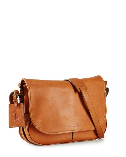 Pink Pony | Brown Polo Core Leather Messenger Bag for Men | Lyst