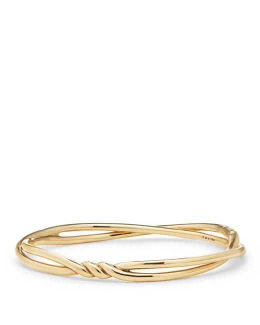 David Yurman - Metallic Continuance Center Twist Bracelet In 18k Gold - Lyst