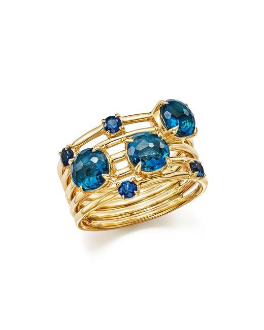 Ippolita   18k Gold Lollipop Constellation Ring In London Blue Topaz And Medium Blue Sapphire   Lyst