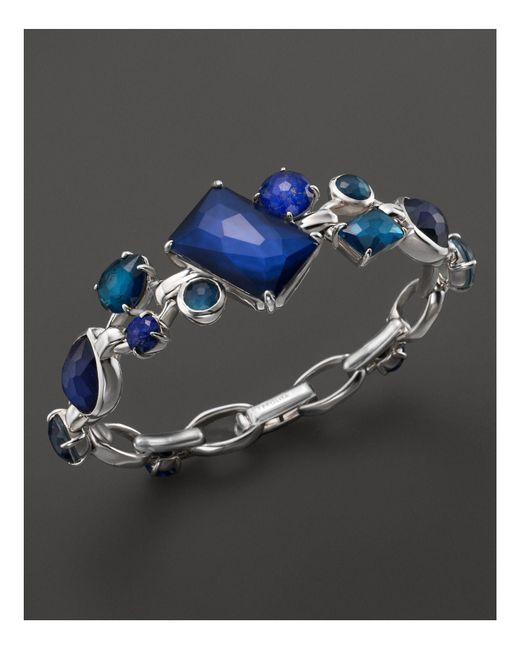 Ippolita   Blue Rock Candy Sterling Silver Multi Stone Link Bracelet In Dark Sea   Lyst