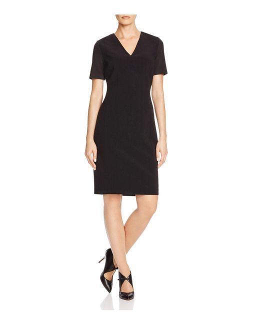 T Tahari | Black Mikayla Contrast Sleeve Dress | Lyst