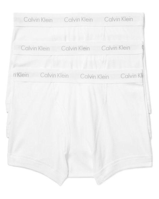 Calvin Klein   White Classic Trunks, Pack Of 3 for Men   Lyst