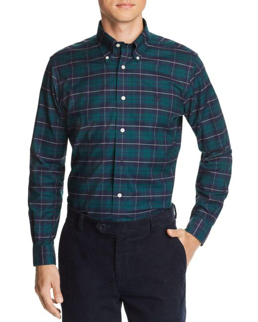 Brooks Brothers - Green Plaid Slim Fit Button-down Oxford Shirt for Men - Lyst