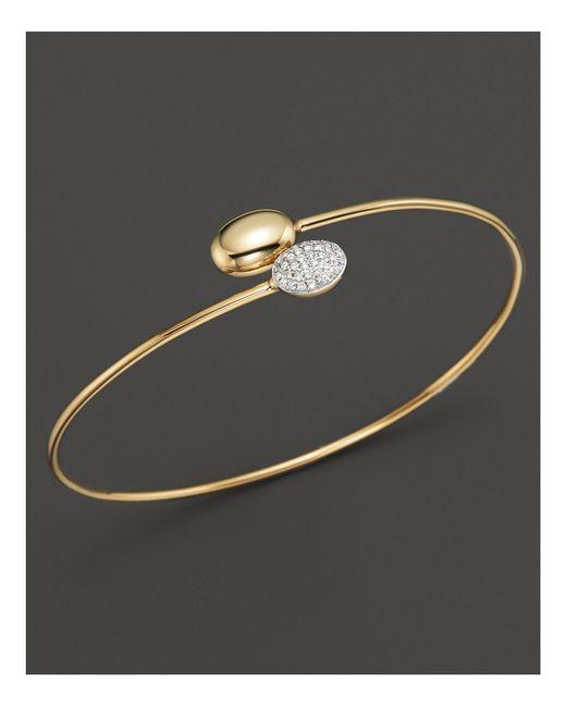 KC Designs | Metallic Diamond Double Oval Bracelet In 14k Yellow Gold | Lyst