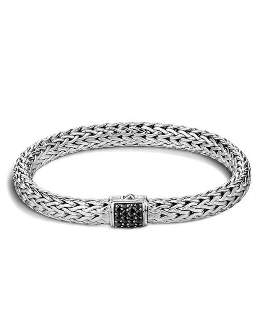John Hardy | Metallic Classic Chain Sterling Silver Lava Medium Bracelet With Black Sapphire | Lyst