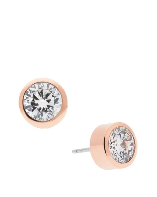 Michael Kors | Blue Round Cut Stud Earrings | Lyst