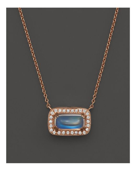 Dana Rebecca | Blue Sylvie Rose Moonstone Necklace, 16"